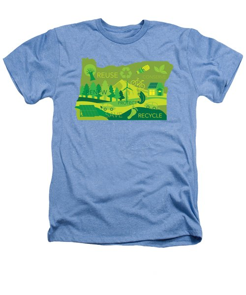 State Of Oregon Map Environment Eco Outline Heathers T-Shirt