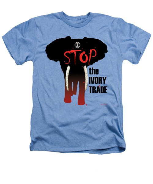 Stop The Ivory Trade Heathers T-Shirt by Galen Hazelhofer