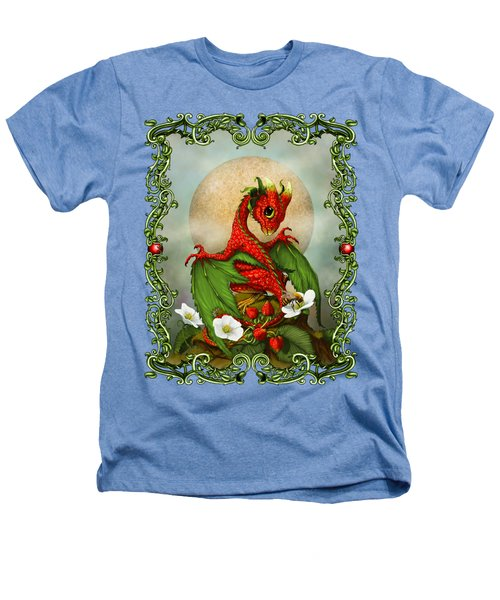 Strawberry Dragon T-shirt Heathers T-Shirt by Stanley Morrison