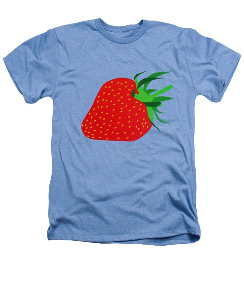 Strawberry Pop Remix Heathers T-Shirt by Oliver Johnston