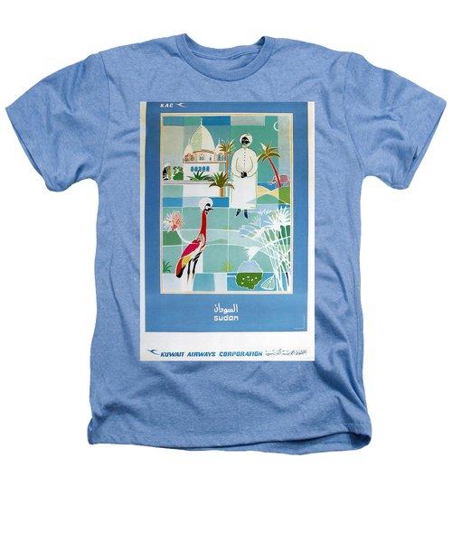 Sudan - Kuwait Airways Corporation - Kuwait - Retro Travel Poster - Vintage Poster Heathers T-Shirt