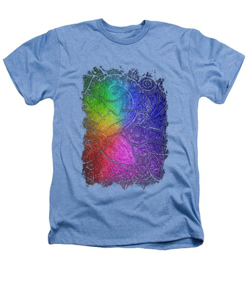 Swan Dance Cool Rainbow 3 Dimensional Heathers T-Shirt by Di Designs