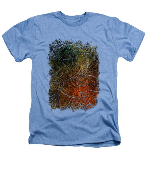 Swan Dance Earthy Rainbow 3 Dimensional Heathers T-Shirt by Di Designs