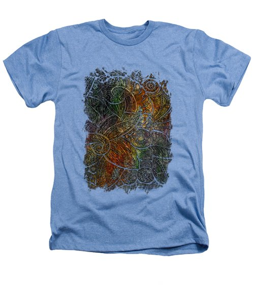 Swan Dance Muted Rainbow 3 Dimensional Heathers T-Shirt by Di Designs