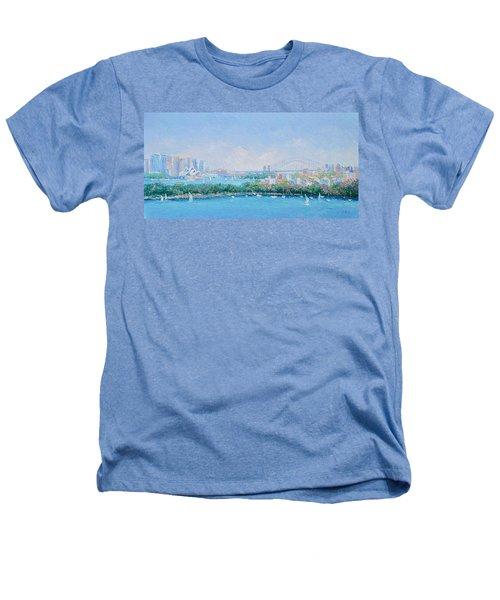 Sydney Harbour Bridge - Sydney Opera House - Sydney Harbour Heathers T-Shirt by Jan Matson