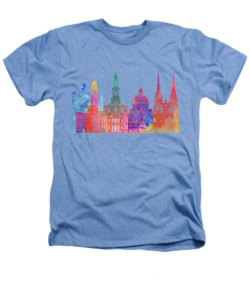 Sydney  Landmarks Watercolor Poster Heathers T-Shirt