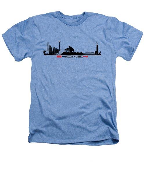 Sydney Skyline Black Heathers T-Shirt by Justyna JBJart