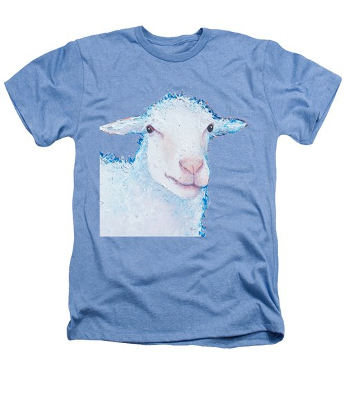 T-shirt With Sheep Design Heathers T-Shirt by Jan Matson