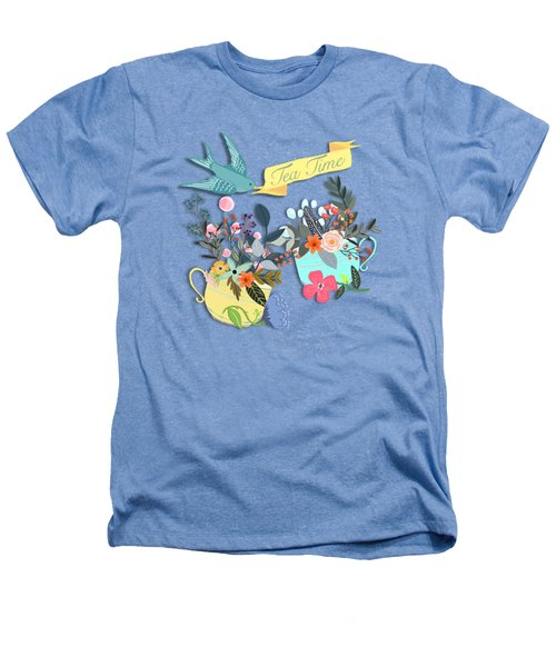 Tea For Two Heathers T-Shirt by Little Bunny Sunshine