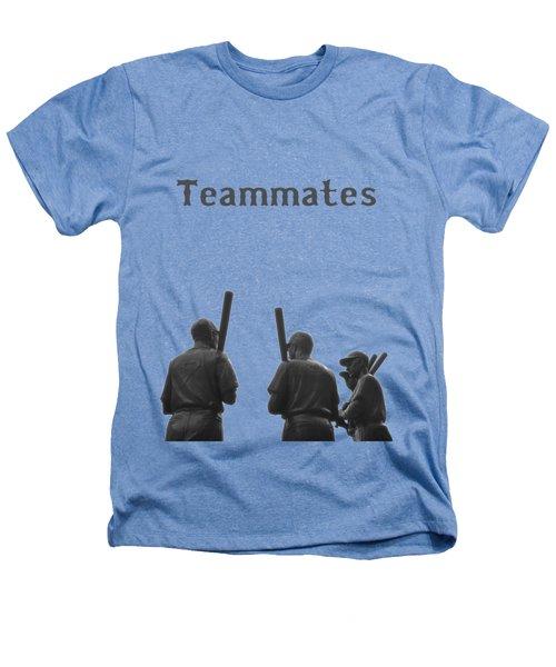 Teammates Poster - Boston Red Sox Heathers T-Shirt by Joann Vitali