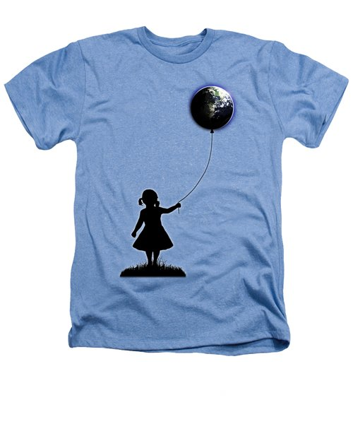 The Girl That Holds The World - White  Heathers T-Shirt by Nicklas Gustafsson