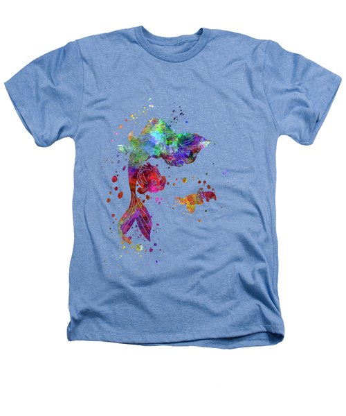 The Little Mermaid Watercolor Art Heathers T-Shirt