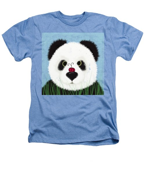 The Panda And His Visitor  Heathers T-Shirt by Michelle Brenmark