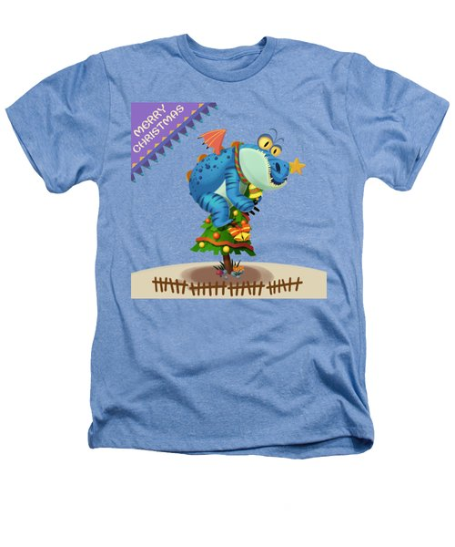 The Sloth Dragon Monster Comes To Wish You Merry Christmas Heathers T-Shirt