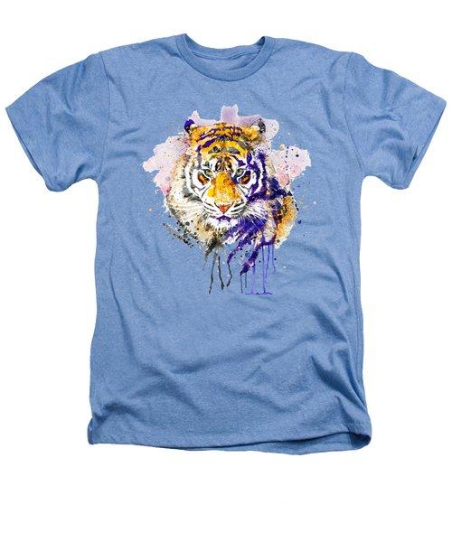 Tiger Head Portrait Heathers T-Shirt