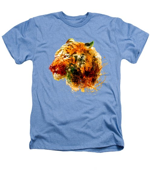 Tiger Side Face Heathers T-Shirt