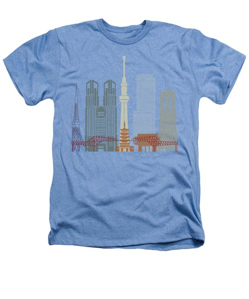 Tokyo V2 Skyline Poster Heathers T-Shirt