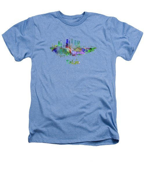 Tokyo V3 Skyline In Watercolor Heathers T-Shirt by Pablo Romero