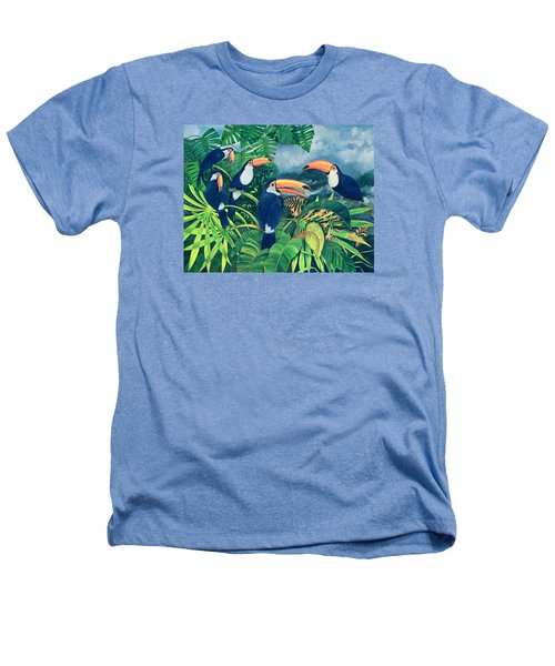Toucan Talk Heathers T-Shirt by Lisa Graa Jensen