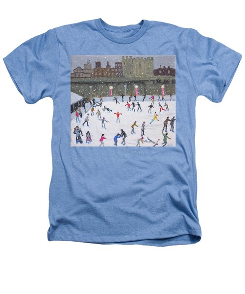 Tower Of London Ice Rink Heathers T-Shirt by Andrew Macara
