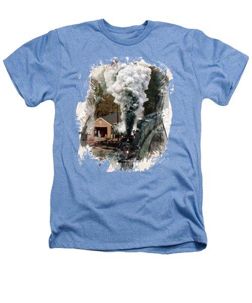 Train Days Heathers T-Shirt by Florentina Maria Popescu