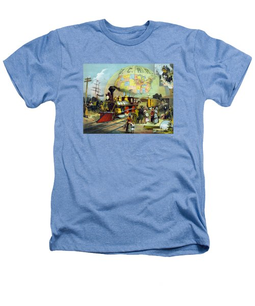 Transcontinental Railroad Heathers T-Shirt by War Is Hell Store
