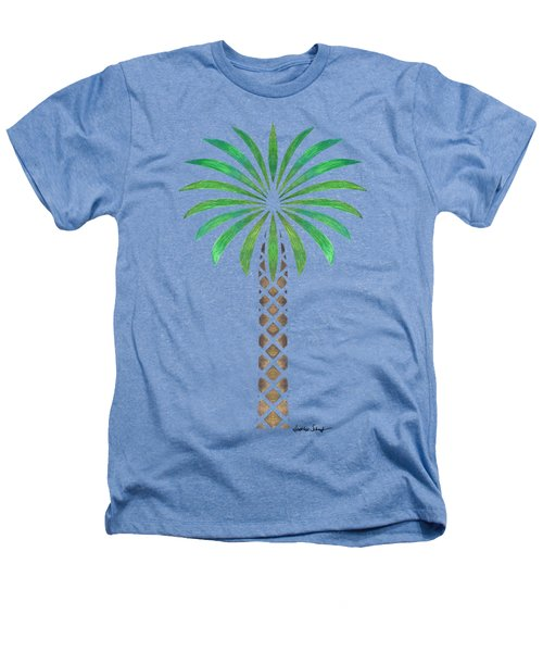 Tribal Canary Date Palm Heathers T-Shirt