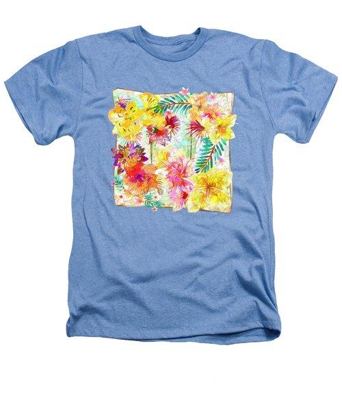 Tropicana Abstract By Kaye Menner Heathers T-Shirt by Kaye Menner