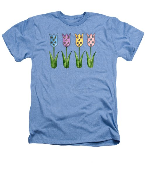 Tulip Row Heathers T-Shirt by Shelley Wallace Ylst