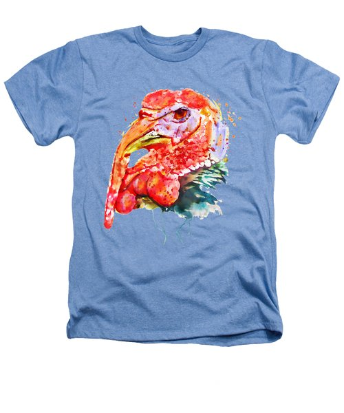 Turkey Head Heathers T-Shirt by Marian Voicu