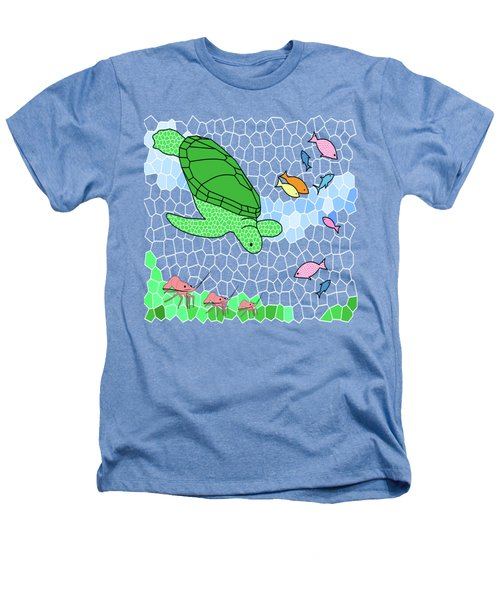 Turtle And Friends Heathers T-Shirt by Methune Hively