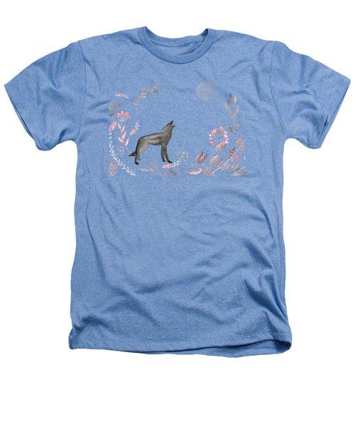 Twilight Wolf Heathers T-Shirt by Amanda Lakey