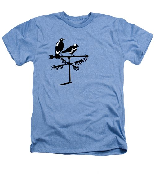 Two Magpies Heathers T-Shirt by India Rattray