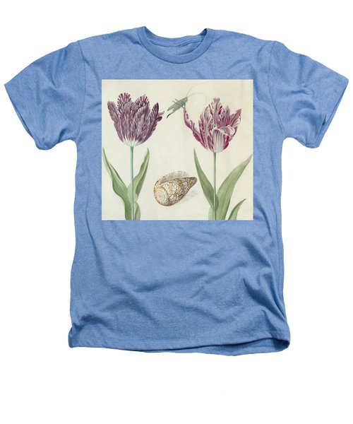 Two Tulips A Shell And A Grasshopper Heathers T-Shirt