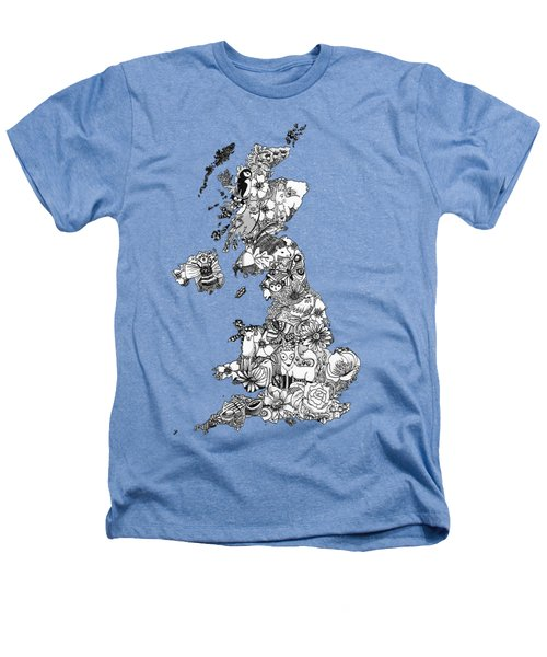 Uk Map Heathers T-Shirt by Hannah Edge