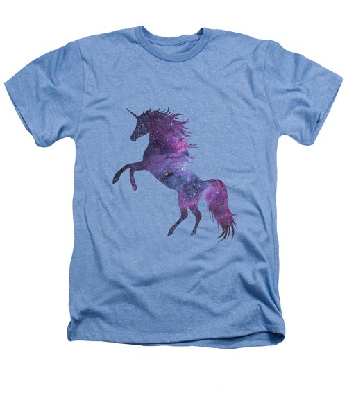 Unicorn In Space-transparent Background Heathers T-Shirt