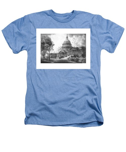 United States Capitol Building Heathers T-Shirt