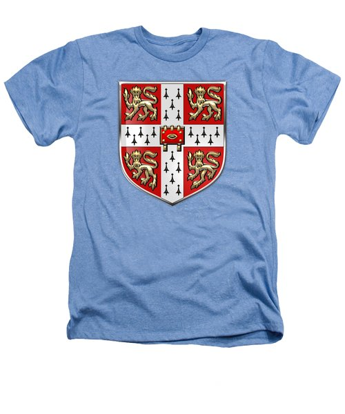 University Of Cambridge Seal - Coat Of Arms Over Colours Heathers T-Shirt by Serge Averbukh