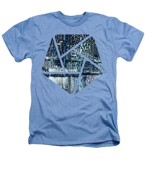 Urban-art Nyc Brooklyn Bridge I Heathers T-Shirt by Melanie Viola