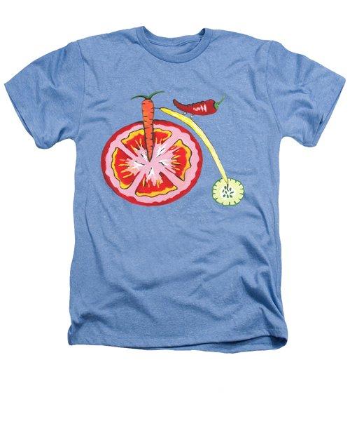 Veggie Bike Heathers T-Shirt by Kathleen Sartoris