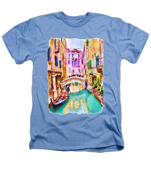 Venice Canal 2 Heathers T-Shirt by Marian Voicu