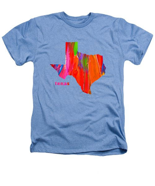Vibrant Colorful Texas State Map Painting Heathers T-Shirt by Design Turnpike