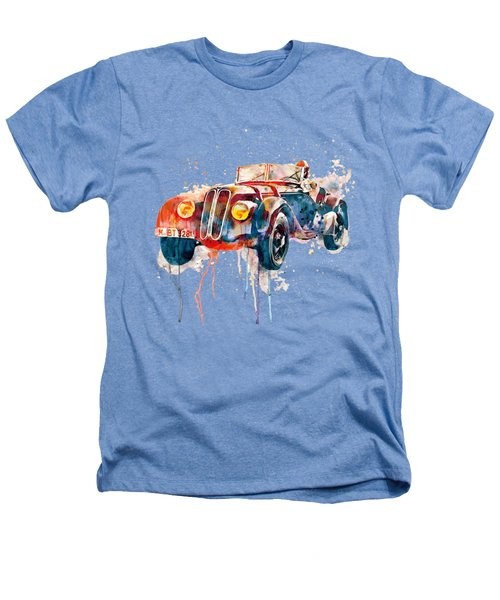Vintage Bmw Watercolor Heathers T-Shirt by Marian Voicu