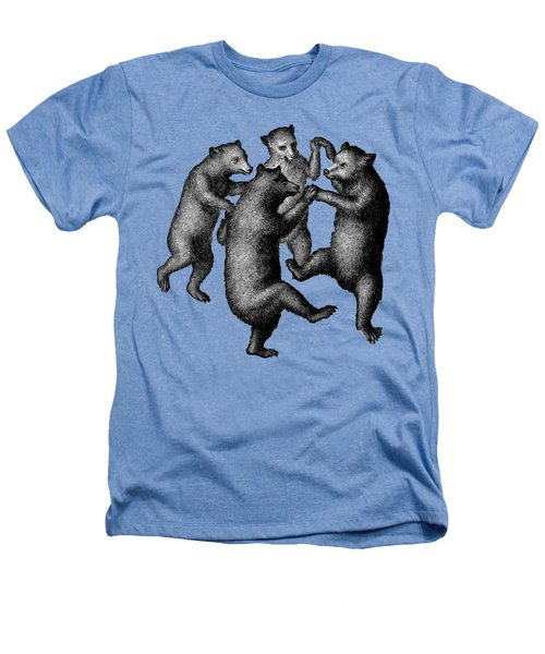 Vintage Dancing Bears Heathers T-Shirt by Edward Fielding