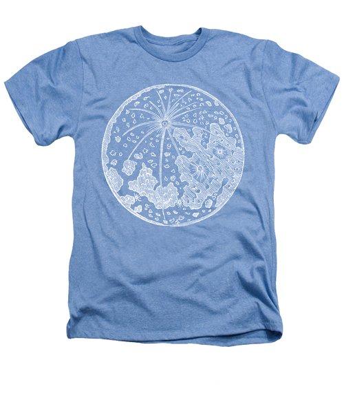 Vintage Planet Tee Blue Heathers T-Shirt by Edward Fielding