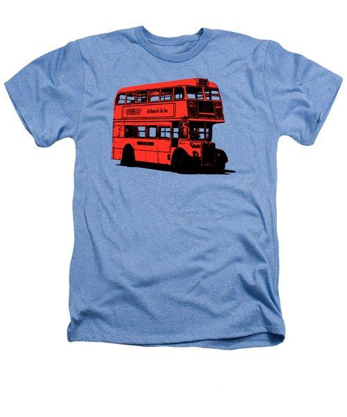 Vintage Red Double Decker London Bus Tee Heathers T-Shirt by Edward Fielding