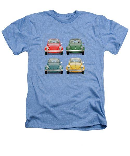 Volkswagen Type 1 - Variety Of Volkswagen Beetle On Vintage Background Heathers T-Shirt