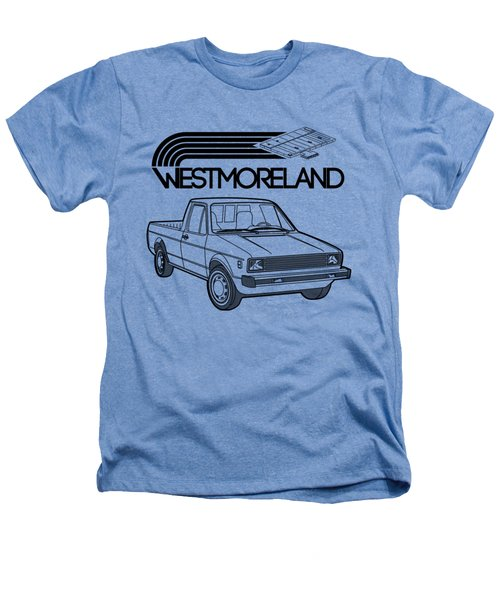 Vw Rabbit Pickup - Westmoreland Theme - Black Heathers T-Shirt
