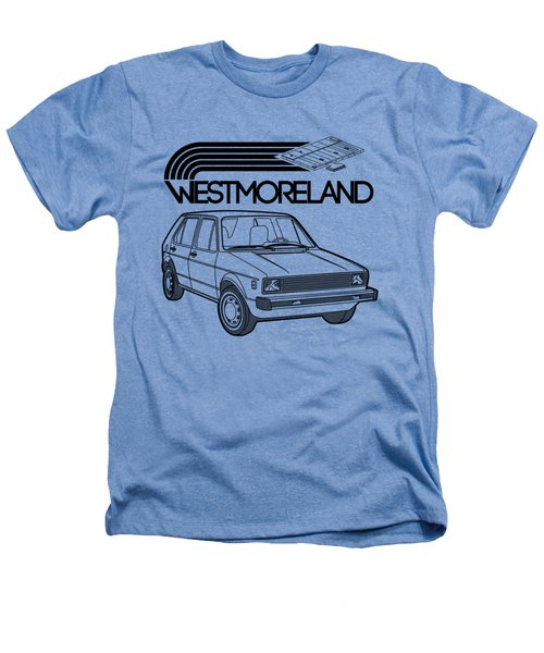 Vw Rabbit - Westmoreland Theme - Black Heathers T-Shirt by Ed Jackson