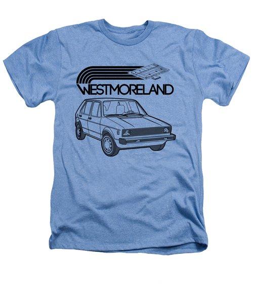 Vw Rabbit - Westmoreland Theme - Black Heathers T-Shirt